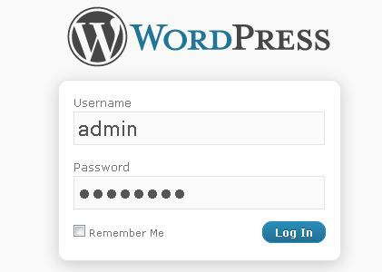 o login wordpress