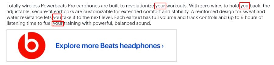 headphone product description