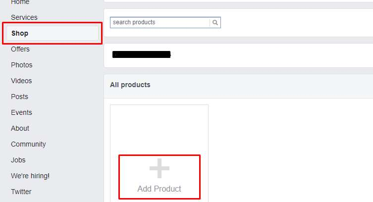 how to add shop section to fb
