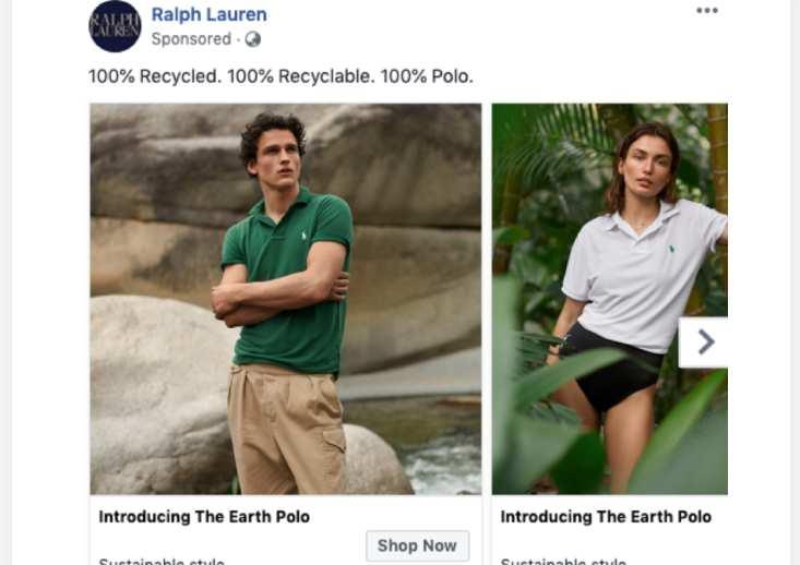 ralph lauren anúncio no facebook